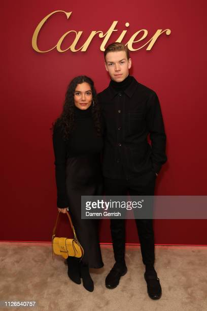 Will Poulter and Yasmine Ibrahim attend as Cartier celebrates the reopening of the New Bond Street boutique on January 31 2019 in London England
