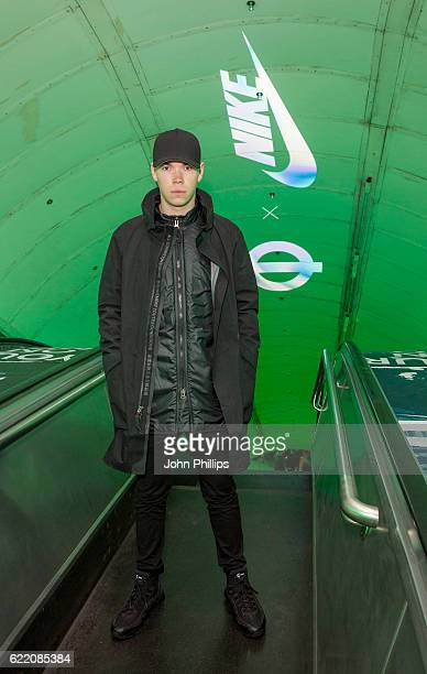 Will Poulter attends NikeLab x Roundel launch at Charing Cross underground Station on November 9 2016 in London England