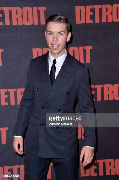 Will Poulter attends the Detroit Paris premiere at Cinema UGC Normandie on September 29 2017 in Paris France