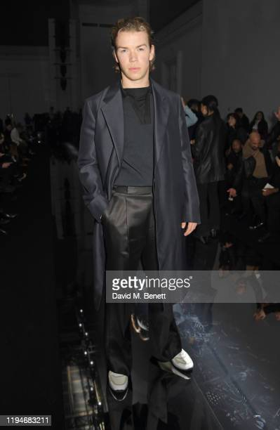 Will Poulter attends the Dunhill Menswear Fall/Winter 20202021 show as part of Paris Fashion Week on January 19 2020 in Paris France