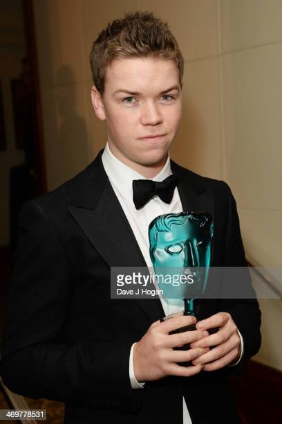 Will Poulter attends the EE British Academy Film Awards 2014 after party at The Grosvenor House Hotel on February 16 2014 in London England