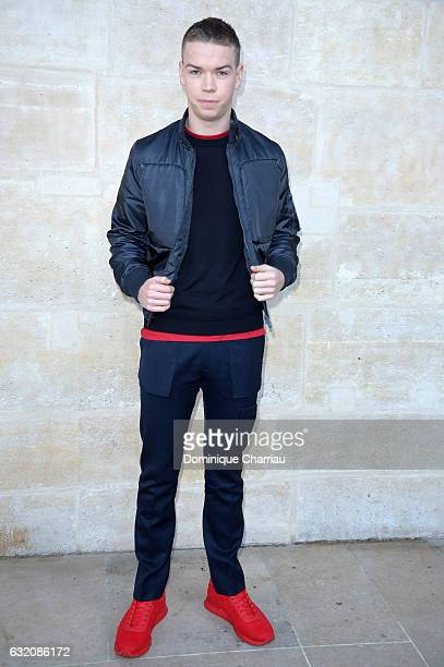 Will Poulter attends the Louis Vuitton Menswear Fall/Winter 20172018 show as part of Paris Fashion Week on January 19 2017 in Paris France