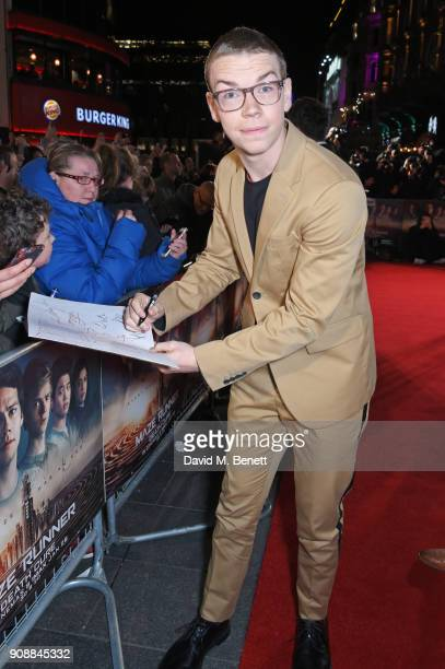 Will Poulter attends the UK fan screening of Maze Runner The Death Cure at Vue West End on January 22 2018 in London England