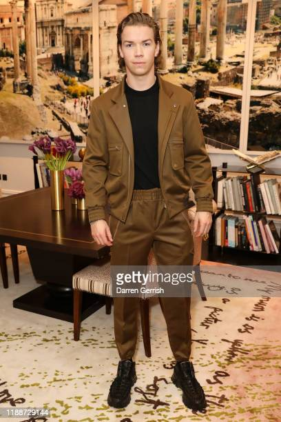 Will Poulter attends the Zegna What Makes a Man dinner London on November 19 2019 in London United Kingdom