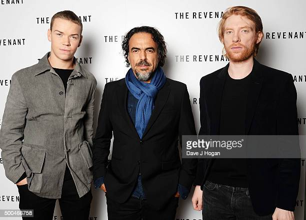 Will Poulter, Driector Alejandro Gonzalez Inarritu and Domhnall Gleeson attend a BAFTA Q&A of 'The Revenant' at Vue Leicester Square on December 6,...