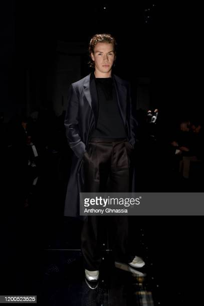 Will Poulter during the Dunhill Menswear Fall/Winter 2020-2021 show as part of Paris Fashion Week on January 19, 2020 in Paris, France.