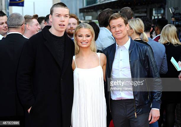 Will Poulter Emma Rigby and Ed Speleers attend the UK Premiere of Plastic at Odeon West End on April 29 2014 in London England