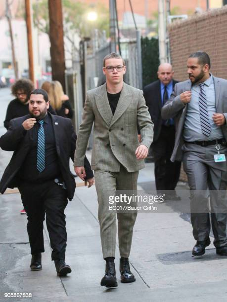 Will Poulter is seen at 'Jimmy Kimmel Live' on January 16 2018 in Los Angeles California