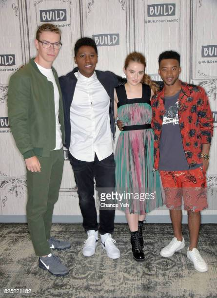 Will Poulter Joseph DavidJones Kaitlyn Dever and Algee Smith attend Buiild series to discuss the new film Detroit at Build Studio on August 1 2017 in...