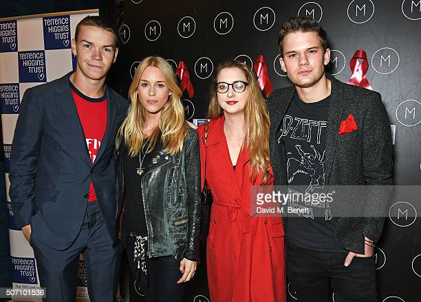 Will Poulter Mary Charteris Daisy de Villeneuve and Jeremy Irvine attend the launch of M Victoria Street in aid of Terrence Higgins Trust on January...