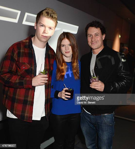 Will Poulter Rose Leslie and Ed Poulter attend the exclusive UK debut unveiling of the all new Audi TT at Audi City on March 5 2014 in London England