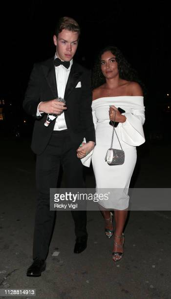 Will Poulter seen at the BAFTAs Vogue x Tiffany Fashion Film afterparty at Annabel's on February 10 2019 in London England