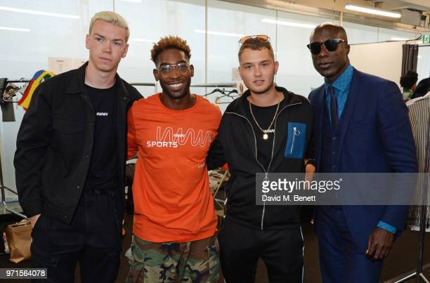 Will Poulter Tinie Tempah Rafferty Law and Ozwald Boateng attend the What We Wear show during London Fashion Week Men's June 2018 at the BFC Show...