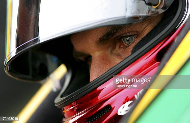 Will Power driver of the Team Australia Lola Cosworth looks on during practice for the Champ Car World Series Gran Premio Telmex at the Autodromo...