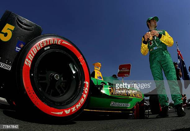 Will Power driver of the Team Australia Panoz DP01 before the start of the ChampCar World Series Grand Premio Tecate on November 11 2007 at the...
