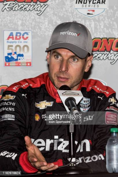 Will Power driver of the Team Penske Chevrolet won a rain shortened ABC Supply 500 on August 18 at Pocono Raceway in Long Pond PA