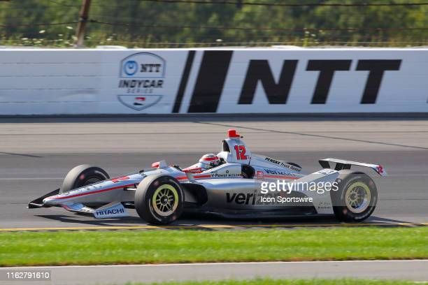 Will Power driver of the Verizon Team Penske Chevrolet drives during the IndyCar Series ABC Supply 500 on August 18 2019 at Pocono Raceway in Long...