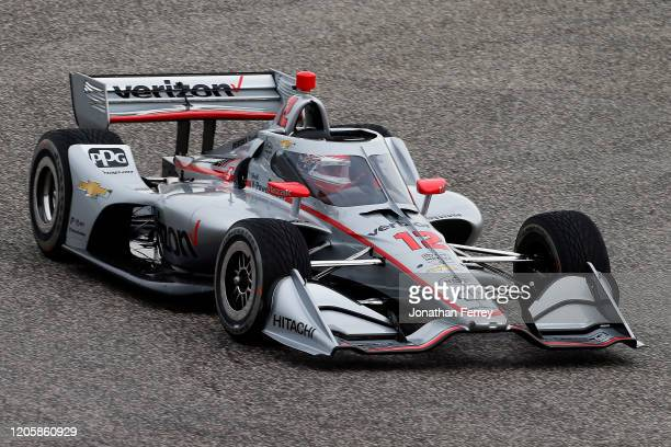 Will Power driver of the Verizon Team Penske Chevrolet drives during NTT Indycar Series testing at Circuit of The Americas on February 12 2020 in...