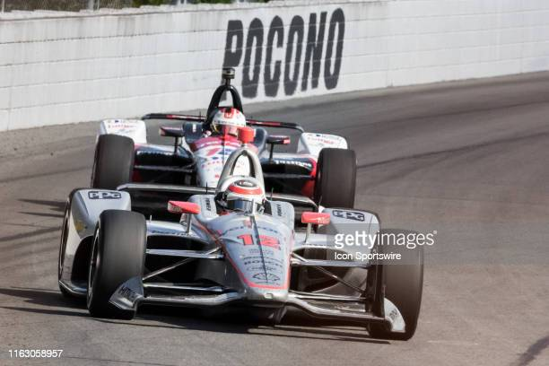 Will Power driver of the Verizon Team Penske Chevrolet during the ABC Supply 500 on August 18 at Pocono Raceway in Long Pond PA