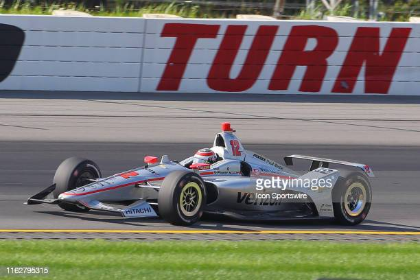 Will Power driver of the Verizon Team Penske Chevrolet during the IndyCar Series ABC Supply 500 on August 18 2019 at Pocono Raceway in Long Pond Pa