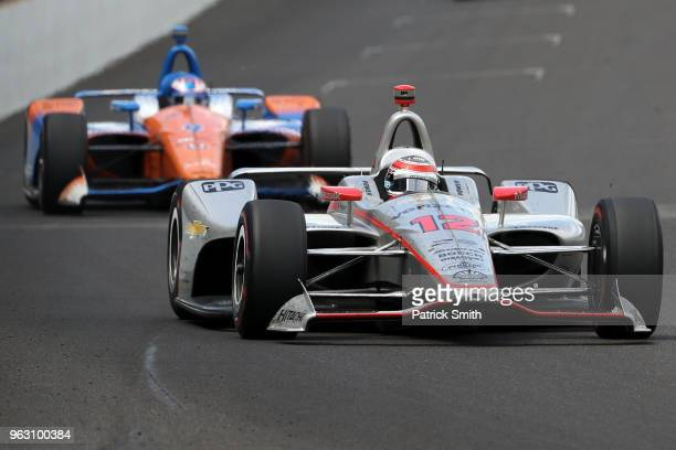 Will Power driver of the Verizon Team Penske Chevrolet races during the 102nd Indianapolis 500 at Indianapolis Motorspeedway on May 27 2018 in...