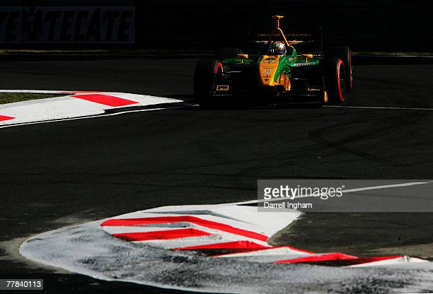 Will Power drives the Team Australia Panoz DP01 during practice for the ChampCar World Series Grand Premio Tecate on November 10 2007 at the...