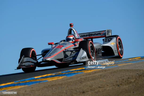 Will Power of Australia driver of the Team Penske Chevrolet during the Verizon IndyCar Series Sonoma Grand Prix at Sonoma Raceway on September 16...