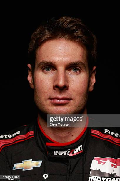 Will Power of Australia driver of the Verizon Penske Racing Chevrolet poses for a portrait during the IZOD IndyCar Series Media day at the Amway...
