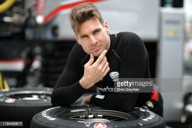 Will Power of Australia driver of the Verizon Team Penske Chevrolet prepares to drive during practice for the NTT IndyCar Series DXC Technology 600...