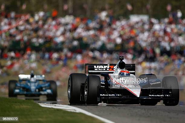 Will Power of Australia, driver of the Verizon Team Penske Dallara Honda drives during the IRL IndyCar Series Grand Prix of Alabama at Barber...