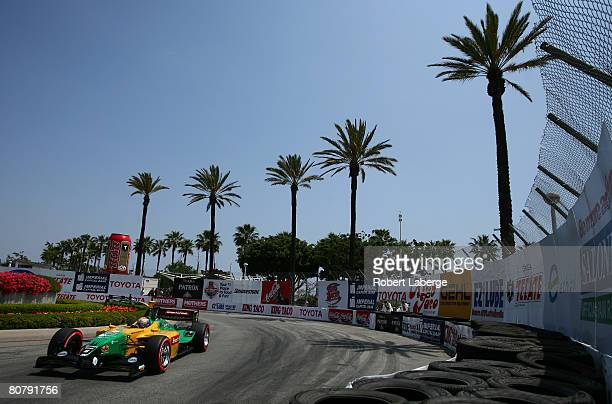 Will Power of Australia drives the KV Racing Technology DP01 Ford Cosworth during the Champ Car World Series Toyota Grand Prix of Long Beach April 20...