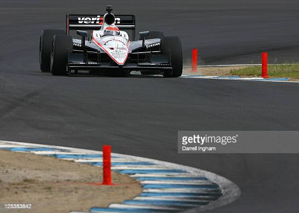 Will Power of Australia drives the Team Penske Dallara Honda during practice for the Indy Japan 300 The Final on the road course at the Twin Ring...