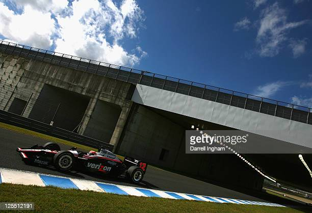 Will Power of Australia drives the Team Penske Dallara Honda during the Indy Japan 300 The Final on the road course at the Twin Ring Motegi on...