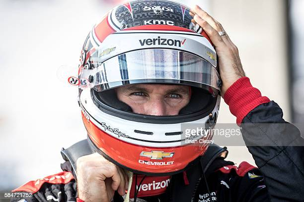 Will Power of Australia prepares to drive during practice for the Honda Indy 200 at MidOhio Sports Car Course on July 30 2016 in Lexington United...