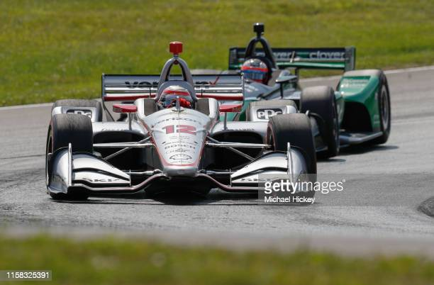 Will Power of Penske Racing drives during the Honda Indy 200 at MidOhio Sports Car Course on July 26 2019 in Lexington Ohio