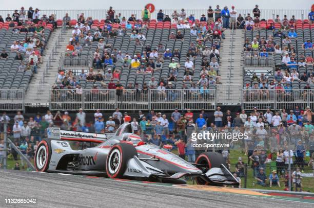 Will Power of Team Penske driving a Chevy accelerates out of turn 1 during the IndyCar Classic at Circuit of the Americas on March 24 2019 in Austin...