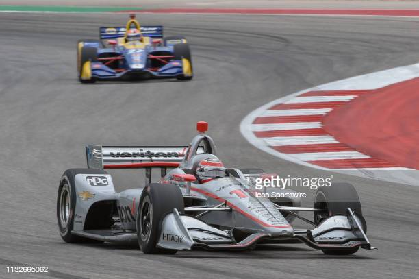 Will Power of Team Penske driving a Chevy races through turn 15 during the IndyCar Classic at Circuit of the Americas on March 24 2019 in Austin Texas