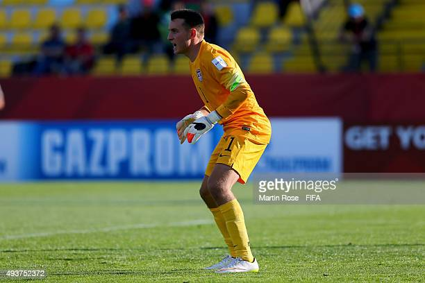 Will Pulisic goalkeeper of USA looks on during the FIFA U17 Men's World Cup 2015 group A match between USA and Croatia at Estadio Sausalito on...