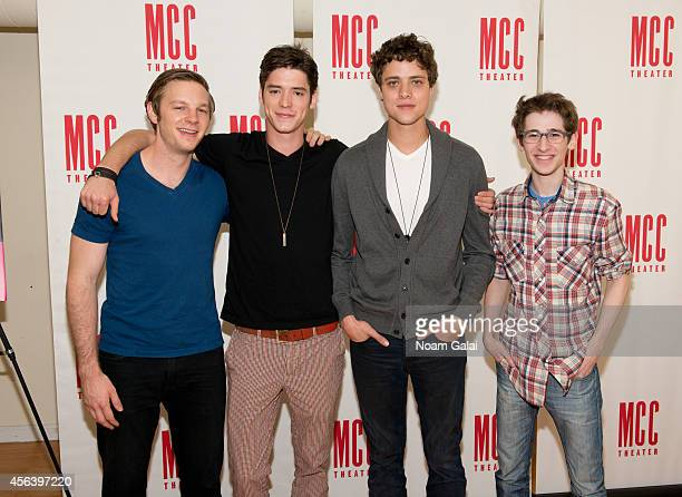 Will Pullen Pico Alexander Douglas Smith and Noah Robbins attend the Punk Rock cast photocall at Snapple Theatre Center on September 30 2014 in New...