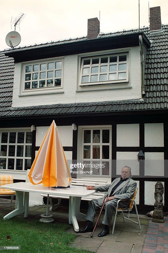 Will Quadflieg, Homestory, Garlstedt Bei;Bremen, Garten,