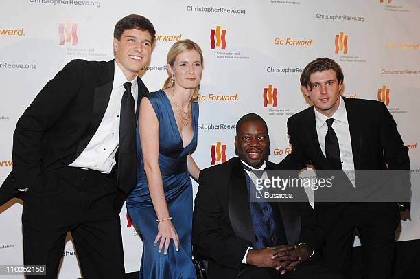 """Will Reeve, Alexandra Reeve, actor Daryl """"Chill"""" Mitchell and Matthew Reeve attend """"A Magical Evening"""" hosted by The Christopher and Dana Reeve..."""