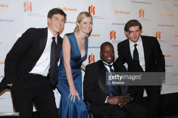Will Reeve Alexandra Reeve actor Daryl 'Chill' Mitchell and Matthew Reeve attend 'A Magical Evening' hosted by The Christopher and Dana Reeve...