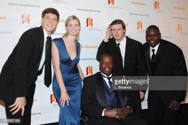 """Will Reeve, Alexandra Reeve, actor Daryl """"Chill"""" Mitchell, Matthew Reeve and Jemal Mitchell attend """"A Magical Evening"""" hosted by The Christopher and..."""