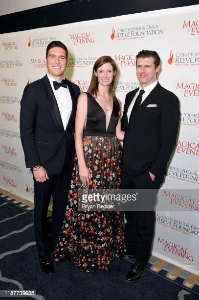 Will Reeve Alexandra Reeve Givens and Matthew Reeve arrive at the 2019 Christopher Dana Reeve Foundation Gala at Cipriani South Street on November 14...