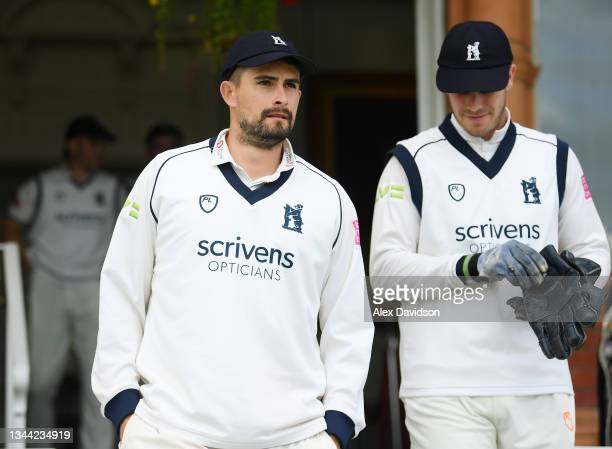 Will Rhodes of Warwickshire takes to the field during Day 4 of the Bob Willis Trophy Final between Warwickshire and Lancashire at Lord's Cricket...