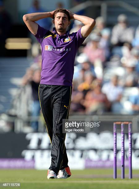 Will Rhodes of Yorkshire Vikings reacts during the Royal London OneDay Cup Semi Final between Yorkshire Vikings and Gloucestershire at Headingley on...