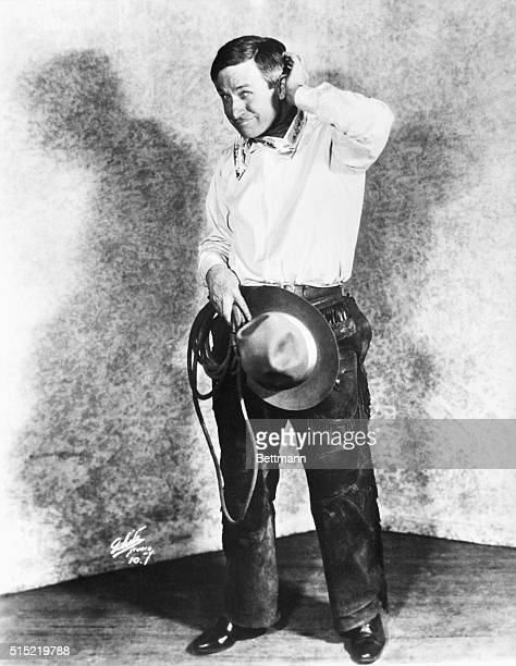 Will Rogers American humorist in a typical cowboy pose Undated photograph