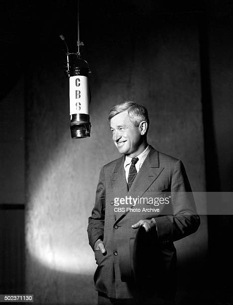Will Rogers at a CBS Radio microphone He performs on the Gulf Headliners program This photo was taken four months before his accidental airplane...