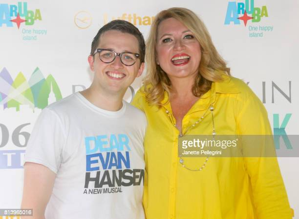 Will Roland from the cast of Dean Evan Hansen and Host Delilah attends 1067 Lite FM's Broadway In Bryant Park 2017 at Bryant Park on July 13 2017 in...