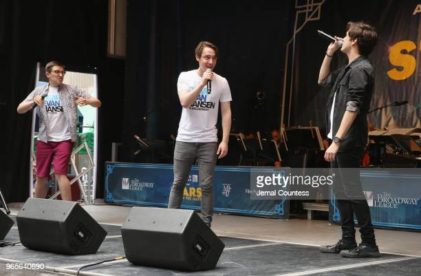 Will Roland Michael Lee Brown and Alex Boniello perform during the United Airlines Presents #StarsInTheAlley Produced By The Broadway League on June...